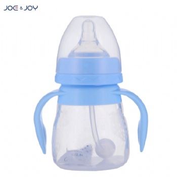 150ml wide neck silicone feeding bottle with handle