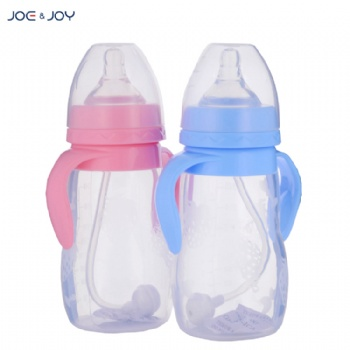 240ml wide neck silicone feeding bottle with handle